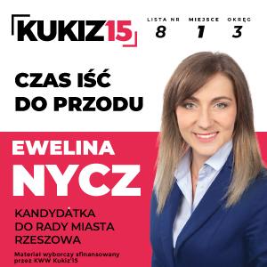 Ewelina Nycz, kandydatka do Rady Miasta Rzeszowa