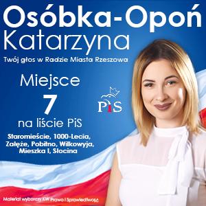 Katarzyna Osóbka-Opoń - kandydatka do Rady Miasta Rzeszowa