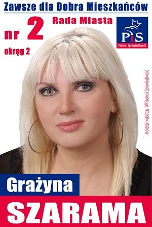Grażyna Szarama - kandydatka do Rady Miasta Rzeszowa