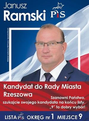 Janusz Ramski - kandydat do Rady Miasta Rzeszowa