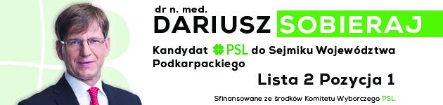 Doktor Daroiusz Sobieraj, kandydat do Sejmiku Województwa Podkarpackiego