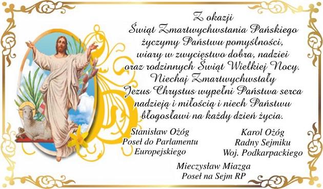 Z okazji Świąt Zmartwychwstania Pańskiego