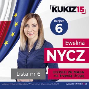 Ewelina Nycz - kandydatka w yborach do Parlamentu Europejskiego