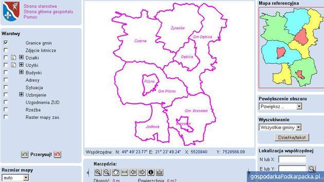 Starostwo Powiatowe w Dębicy uruchomiło Geoportal