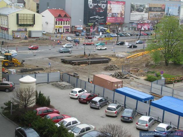 Widok placu budowy z okien Urzędu Wojewódzkiego, fot, Adam Cyło
