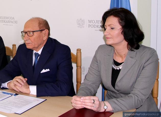 Od lewej prezydent Tadeusz Ferenc, wojewoda Ewa Leniart. Fot. Urząd Wojewódzki