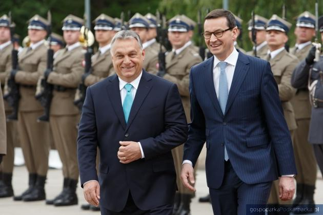 Viktor Orban i Mateusz Morawiecki w Warszawie. Fot. KPRM