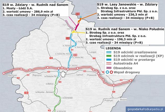 Trzy umowy na budowę 25 km S19 Via Carpathia na Podkarpaciu