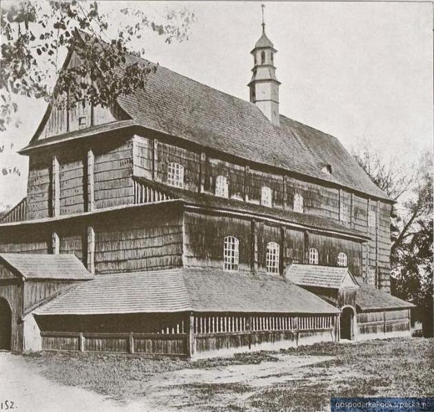 Niezachowany parafialny kościół rzymskokatolicki św. Jana Chrzciciela w Sokołowie Małopolskim. Zbiory M. Szukały