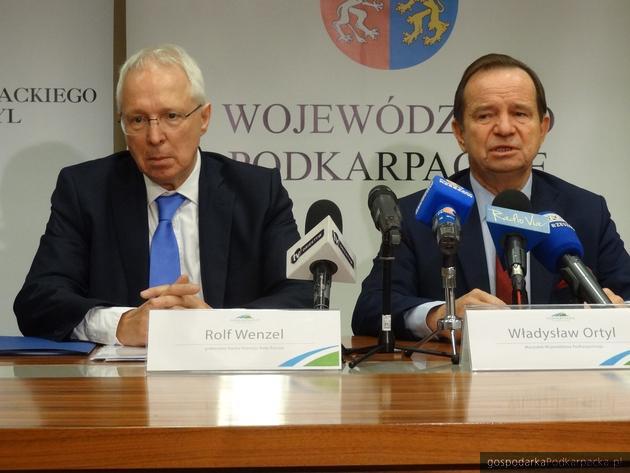 Od lewej Rolf Wenzel i Władysław Ortyl