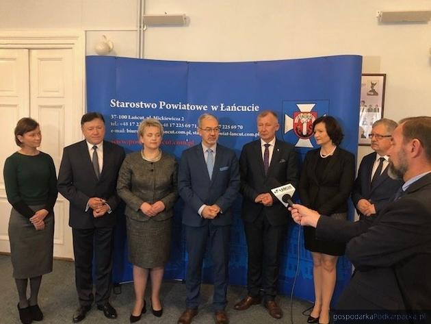 Kolejowo-drogowe inwestycje w powiecie łańcuckim z poparciem ministra Kwiecińskiego