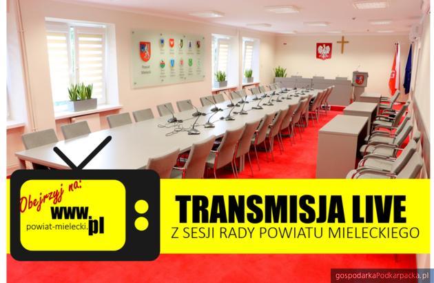 Sesje powiatu mieleckiego będą transmitowane na żywo
