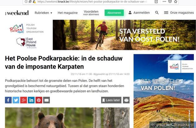 Oferta turystyczna Podkarpackiego i Polski Wschodniej promowana Belgii