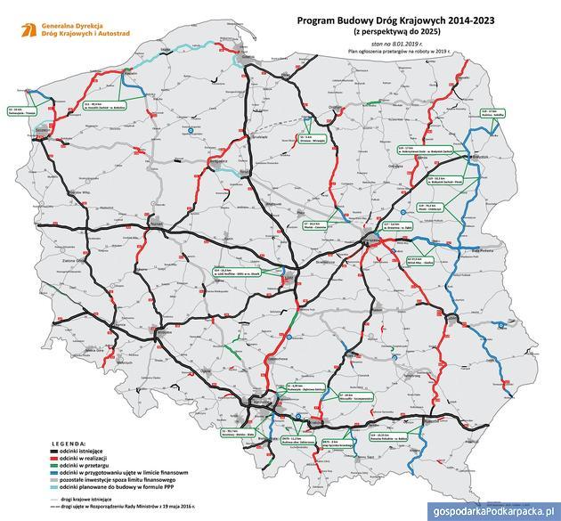 Plany budowy dróg i autostrad GDDKiA na 2019 r.