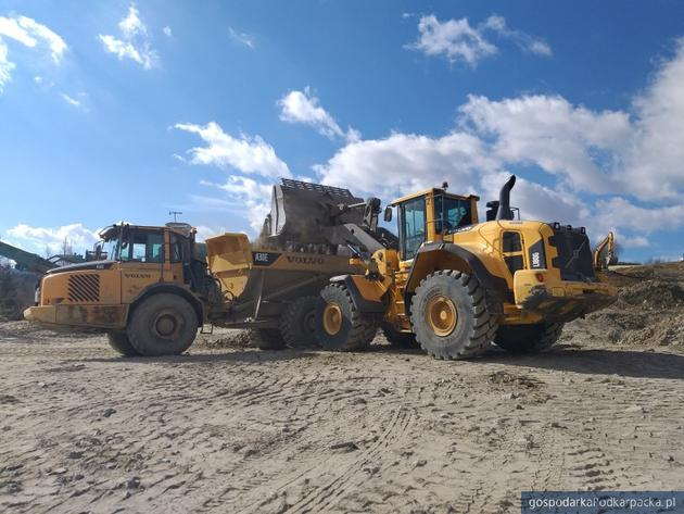 Postęp na budowie obwodnicy Sanoka  - początek marca 2019