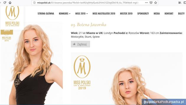 Bożena Jaworska  z Woli Raniżowskiej kandydatką na Miss Polski UK