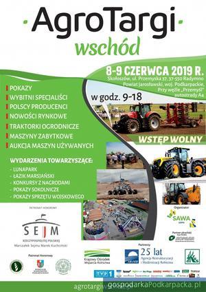 Międzynarodowe Agro Targi Wschód w Skołyszowie już 8 czerwca