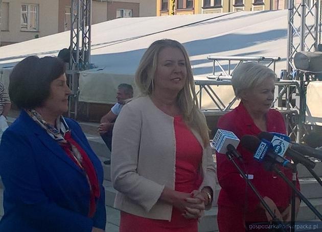 Od lewej Renata Butryn, Elżbieta Łuykacijewska i Krystyna Skowrońska. Fot. ab