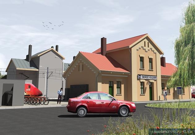 Wizaulizacja dworca w Radymnie. Fot. PKP