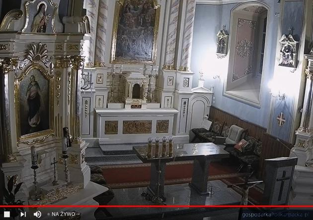 Kościół parafialny Racławówka-Zabierzów - screen z transmisji
