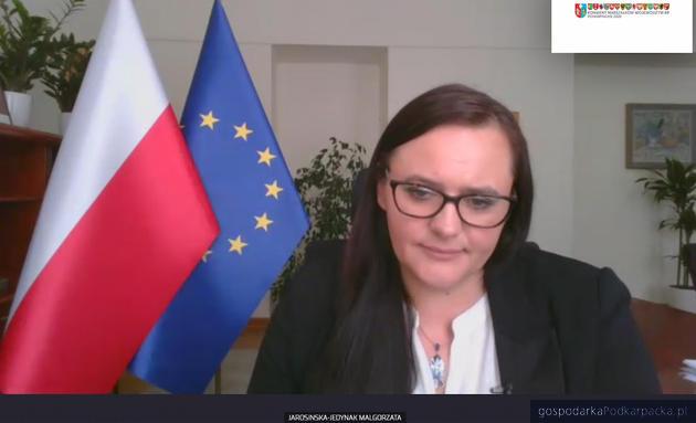 Minister funduszy i polityki regionalnej Małgorzata Jarosińska-Jedynak podczas konwentu
