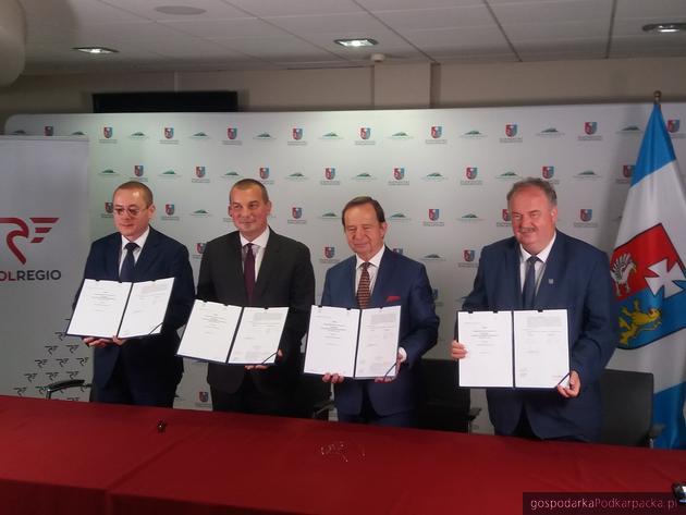 Od lewej Adam Pawlik, Artur Martyniuk, Władysłąw Ortyl i Piotr Pilch