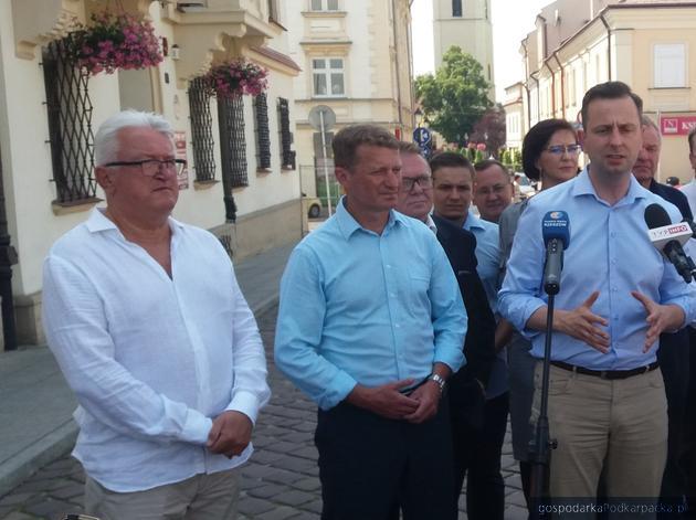 Na pierwszym planie od lewej: Tomasz Kulesza, Ireneusz Raś i Władysław Kosiniak-Kamysz